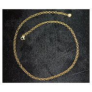 18K Italian Heavy Gold Link Necklace