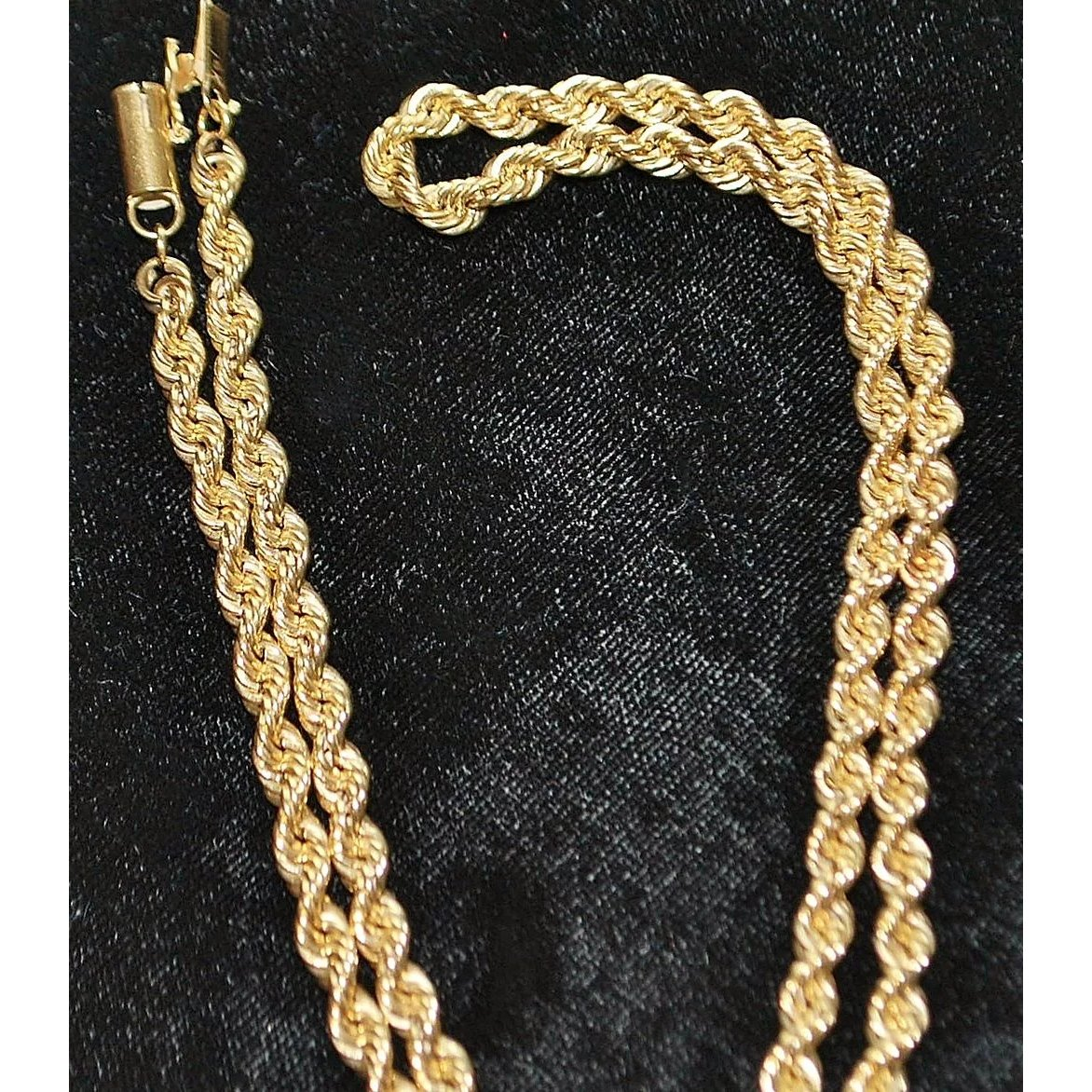 415896a6bb328 14K Gold Rope Necklace, 1980's