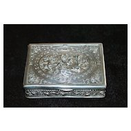 German 830 Silver Snuff Box -1890's