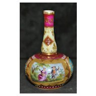 Miniature Royal Vienna Porcelain Vase - 1890's
