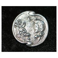 Art Nouveau Sterling Silver Pin, c. 1910