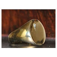14K Man's Gold Signet Ring, 1960's