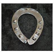 "German Fine Silver ""Horseshoe"" Paperweight - 1920's"