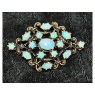 14K  Opal Pendant/Brooch - 1980's