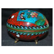 Cloisonne Egg Box, 1890