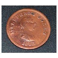English Half Penny Trade Token, c. 1815