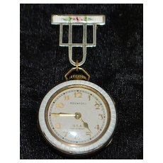 Art Deco Lady's White Enamel Watch, 1920's