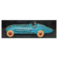 Cast Iron Boat Tail Racing Car, 1930's