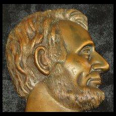 Bronze Profile of President A. Lincoln, c.1900