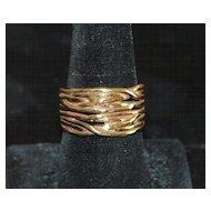 14K Custom Made Man's Gold Ring