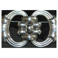 Large Sterling Silver New York Dress Clip Brooch - 1940's