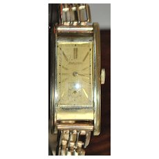 Art Deco Bulova Curvex Wrist Watch - 1938