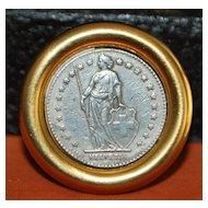 Ben Amun Swiss Franc Coin Earrings - 1980's