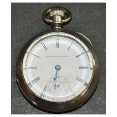 Elgin Coin Silver OF Pocket Watch - 1887