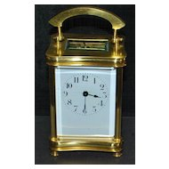 Fine French Brass Carriage Clock -  N.G. W. & S. Maker