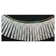 Italian Sterling Silver Cleopatra Style Necklace - 1980's