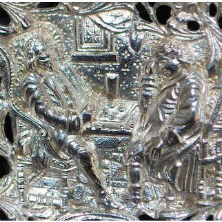 """German 800 Silver """"The Chess Players"""" Spoon -1890's"""