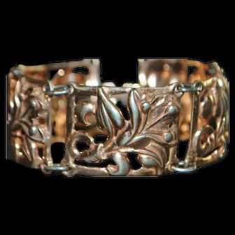 Rose Gold over Sterling Silver  Bracelet - 1940's