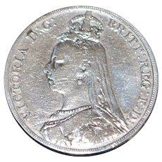 Great Britain Sterling Crown Coin - 1890