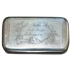 German 800 Silver Snuff Box, c. 1890