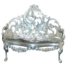 Dutch Miniature 830 Silver Settee - 1901