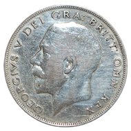 English Silver Half Crown Coin - 1922