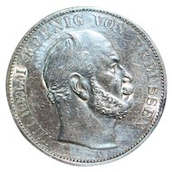 German Sieges Thaler Large Silver Coin -1871-A