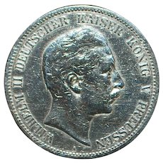 German Silver 5 Mark Coin - 1902 - A