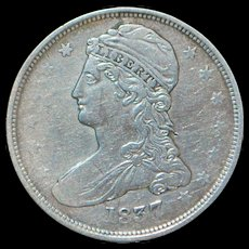 US Half Dollar Capped Bust, Reeded Edge - 1837