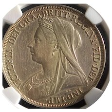 Great Britain Queen Victoria Silver Crown Coin - 1897