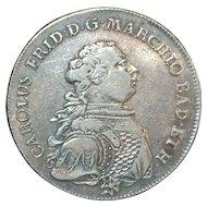 German States BADEN Thaler - 1766 - W