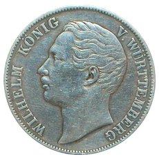 German States Silver Thaler - Wurttemberg - 1864