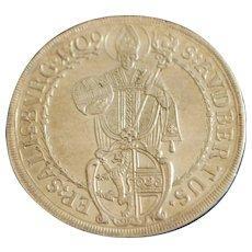 Salzburg Franz Anton Von Harrach Silver Thaler -1709 - Slabbed - NGC- AU Details