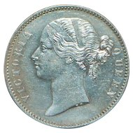 East India Company One Rupee Silver Coin - 1840