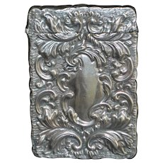 English Art Nouveau Sterling Silver Card Case - 1907