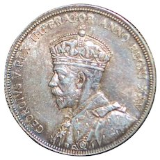 Canadian Silver One Dollar Coin - 1935 - AU