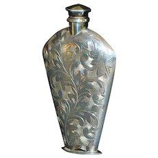 Japanese Engraved 950 Silver Purse Perfume - 1950