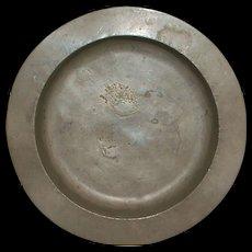 English Pewter Porridge Bowl - London - 1750