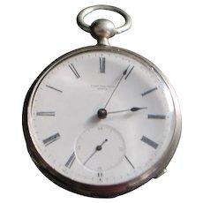 Swiss OF Silver KWKS Pocket Watch - 1880's