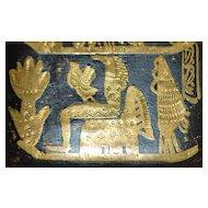 Art Deco Egyptian Inlaid Figural Niello Case - 1920's