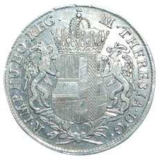 Maria Theresa Silver Convention Thaler Coin - 1766