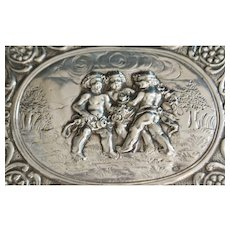 German Hanau 800 Silver  Cherub box - 1895