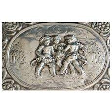 German Hanau 800 Silver  Cherub box - 1895