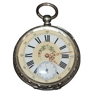 Swiss Chinese Market Silver Pocket Watch -1870's