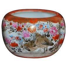 Japanese Hp Satsuma Porcelain Miniature Bowl - 1890