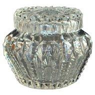 Fine Lady's Vanity Cut Glass Dresser Jar - 1920's