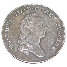 Sweden Riksdaler coin - 1781 - O.L. -XF Details - Slabbed