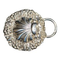 French Art Nouveau Lady's Silver Belt Buckle - 1900