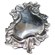 Art Nouveau Sterling Lapel Watch Clip - 1900