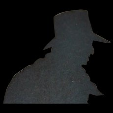 English Victorian Silhouette The Doctor Walking His Dog - 1880's